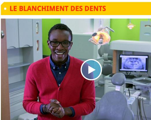 Reportage de Télé-Québec sur le blanchiment des dents; options, risques, avantages et désavantages.