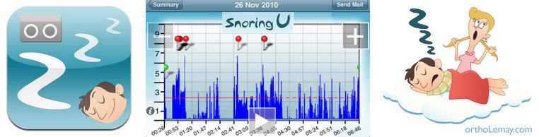 application sommeil ronflement