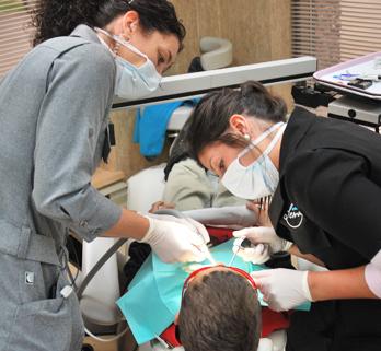 La pose d'un appareil d'expansion en orthodontie nécessite la collaboration de deux personnes